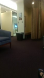 Open door into the biopsy room (taken from the internal waiting room)